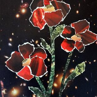 Art: Space Flowers   Coreopsis Mercury Rising by Artist Vicky Helms