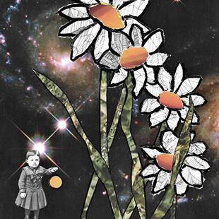 Art: Space Daisies by Artist Vicky Helms