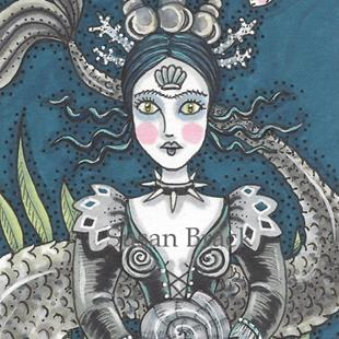 Art: SEASHELL QUEEN by Artist Susan Brack