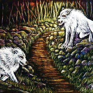 Art: Forest Creatures  (SOLD) by Artist Monique Morin Matson