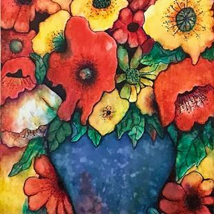 Art: Poppy Bouquet by Artist Ulrike 'Ricky' Martin