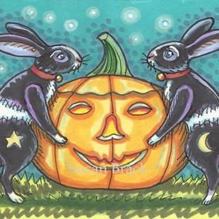 Art: BLACK JACKS AND THE GREAT PUMPKIN by Artist Susan Brack