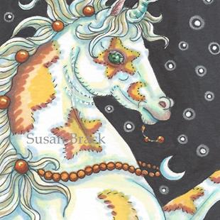 Art: HALLOW'S EVE MYSTIC UNICORN by Artist Susan Brack