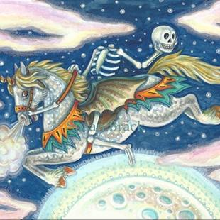 Art: HEADLESS HORSEMAN RIDES AGAIN by Artist Susan Brack