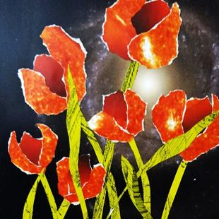 Art: Space Tulips by Artist Vicky Helms
