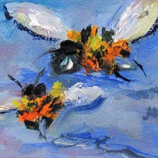 Art: Two Bees by Artist Delilah Smith