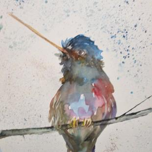 Art: Hummingbird No. 17 by Artist Delilah Smith