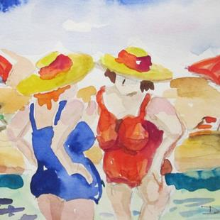 Art: Beach Talk-sold by Artist Delilah Smith