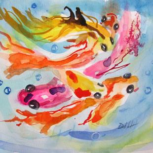 Art: Colorful Koi by Artist Delilah Smith