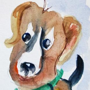 Art: Puppy by Artist Delilah Smith
