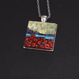 Art: Poppy Fields Wearable Art - Sold by Artist Dana Marie