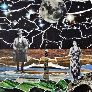 Art: The Moon Versus Us by Artist Vicky Helms