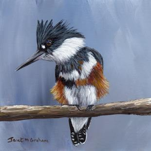 Art: Belted Kingfisher by Artist Janet M Graham