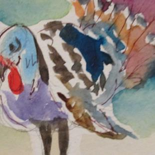 Art: Thanksgiving Turkey by Artist Delilah Smith