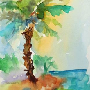 Art: Island Palms by Artist Delilah Smith