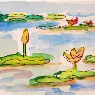 Art: Lily Pond by Artist Delilah Smith