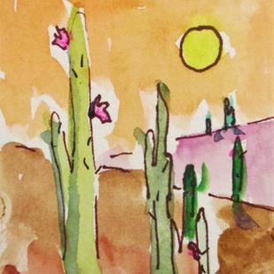 Art: Saguaro No. 4 by Artist Delilah Smith
