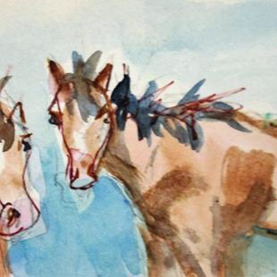 Art: Two Horses by Artist Delilah Smith