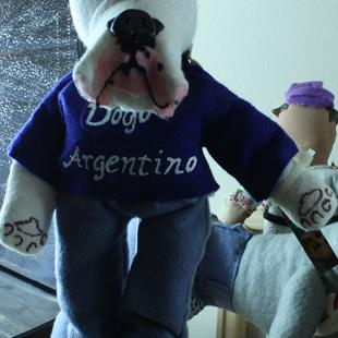 Art: Dogo Argentino by Artist Laura Barbosa