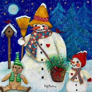 Art: Snowman and Friends by Artist Ulrike 'Ricky' Martin
