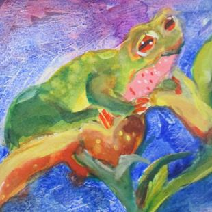 Art: Frog No. 2 by Artist Delilah Smith