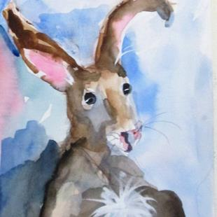 Art: Brown Rabbit No. 3-sold by Artist Delilah Smith