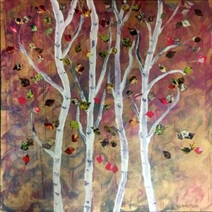 Art: Aspen Trees by Artist Laura Gemme Triplett
