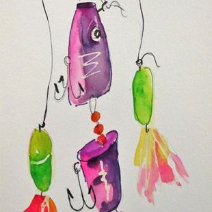 Art: Fishing Lure No. 7 by Artist Delilah Smith