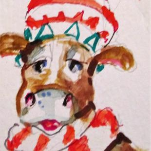 Art: Eight Maids Milking, 12 Days of Christmas by Artist Delilah Smith