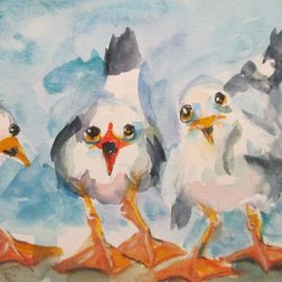 Art: Three Gulls by Artist Delilah Smith