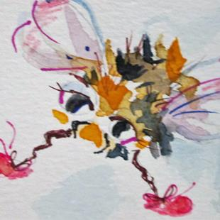 Art: Bee No. 2 aceo by Artist Delilah Smith