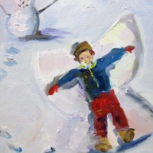 Art: Snow Angel No. 2 by Artist Delilah Smith