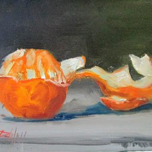 Art: Orange with Peel by Artist Delilah Smith