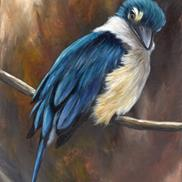 Art: Sacred Kingfisher No 4 by Janet M Graham