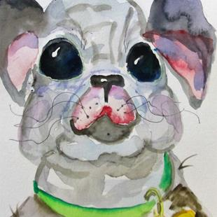 Art: Pug by Artist Delilah Smith