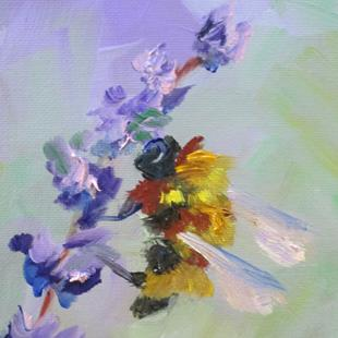 Art: Bee and Lavender No. 6-sold by Artist Delilah Smith