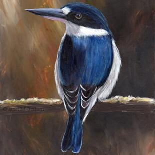 Art: Forest Kingfisher No 3 by Artist Janet M Graham