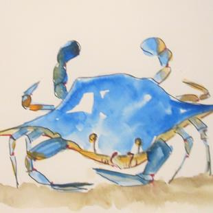 Art: Blue Crab No.18 by Artist Delilah Smith