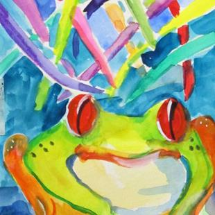 Art: Little Frog No. 2 by Artist Delilah Smith