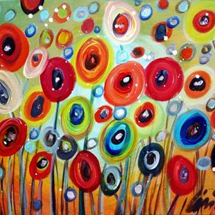Art: POPPIES by Artist LUIZA VIZOLI
