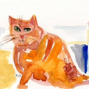 Art: The Orange Cat by Artist Gabriele Maurus