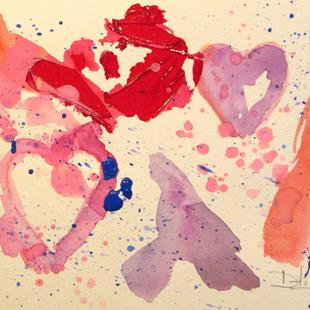 Art: Abstract Valentine by Artist Delilah Smith