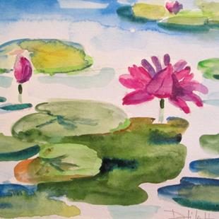 Art: Lily Pond No.9 by Artist Delilah Smith