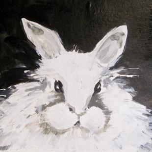 Art: White Rabbit by Artist Delilah Smith