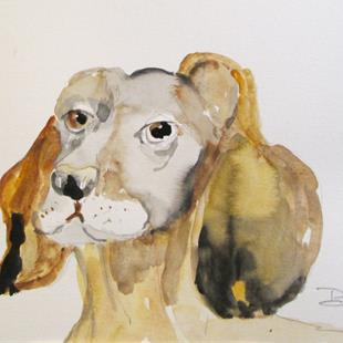 Art: Dachshund by Artist Delilah Smith