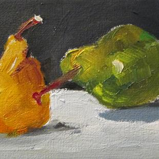 Art: Aceo Pears by Artist Delilah Smith