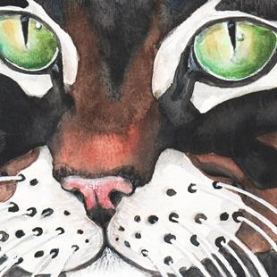 Art: Green Eyes by Artist Melinda Dalke