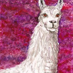 Art: Impression of a Llama 1 by Artist Melinda Dalke
