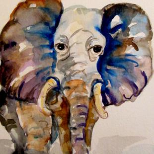 Art: Elephant No.2 by Artist Delilah Smith