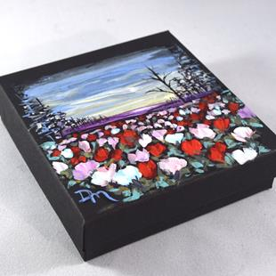 Art: Painted Jewelry Gift Box by Artist Dana Marie